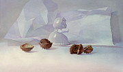 White Painting Metal Prints - White still life II Metal Print by Svetlana and Sabir Gadzhievs