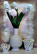 Vase White Framed Prints - White Still Life Framed Print by Marsha Heiken