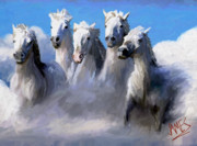 Painted Ponies Art - White Storm by James Shepherd