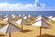 Suntan Metal Prints - White Sunshades Metal Print by Carlos Caetano