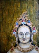 Icon  Mixed Media - White Tara by Suzan  Sommers