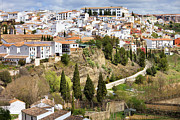 Blanco Framed Prints - White Town of Ronda Framed Print by Artur Bogacki