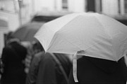 Photo Framed Prints - White Umbrella Framed Print by Marcio Faustino