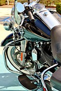 Harley Davidson Road King Motorcycles Photos - White Wall Hog by Rene Triay