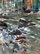 Plein Air Metal Prints - White Water Metal Print by Donald Maier