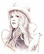 Stevie Nicks Framed Prints - White Winged Dove Framed Print by Johanna Pieterman