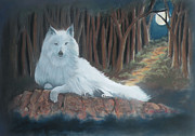 White Wolf Print by Charles Hubbard