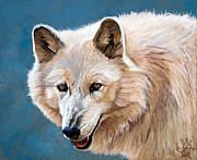 White Wolf Posters - White Wolf Poster by J W Baker