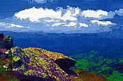 Adirondacks Digital Art Posters - Whiteface Mountain View Poster by Diane E Berry