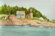 Maine Paintings - Whitehouse Island Light by Peggy Bergey