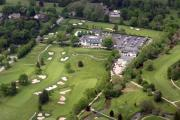Photo Flight Prints - Whitemarsh Valley Country Club Print by Duncan Pearson
