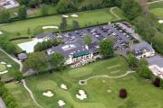 Photo Flight Prints - Whitemarsh Valley Country Club Whitemarsh Township Pennsylvania Print by Duncan Pearson