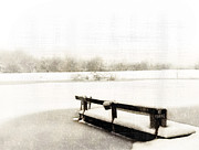 Fishing Dock Posters - Whiteout Poster by Kathy Jennings