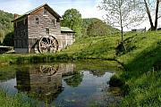 Historic Mill Framed Prints - Whites Mill Framed Print by Alan Lenk