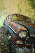 Cruiser Painting Metal Prints - Whitewalls Metal Print by Daniel W Green