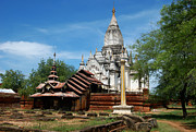 Burma Prints - Whitewashed Lemyethna temple Print by RicardMN Photography