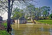 Metamora Metal Prints - Whitewater Canal Metamora Indiana Metal Print by Gary Wonning