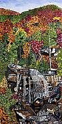 Falls Paintings - Whitewater Falls 3 by Micah Mullen
