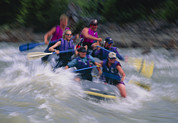 Sporting Group Framed Prints - Whitewater Rafting Framed Print by G. Brad Lewis