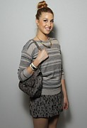 Gold Necklace Photo Prints - Whitney Port In Attendance For Rebecca Print by Everett