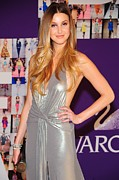 Halter Dress Posters - Whitney Port Wearing David Meister Poster by Everett