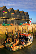 Trawler Metal Prints - Whitstable Harbour sunrise. Metal Print by Richard Thomas