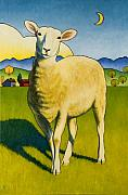 Stacey Neumiller Framed Prints - Who Are Ewe Framed Print by Stacey Neumiller