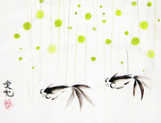 Fish Paintings - Who Cares About The Storm Above by Oiyee  At Oystudio