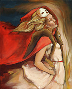 Skull Paintings - Who Carries Who by Jacque Hudson-Roate