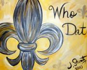 Who Dat Print by Jessica Stuntz