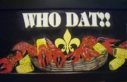 Crawfish Art - Who Dat by Lucretia Glorioso