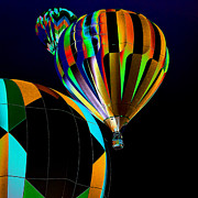 Hot Air Balloon Digital Art Prints - Who has the the Right of Way Print by David Patterson