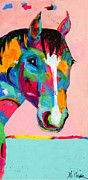Horses In Art Prints - Who Me? Print by Tracy Miller
