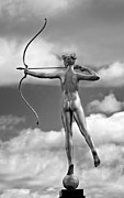 Archery Art - Who Needs Cupid 2 monochrome by Steve Harrington