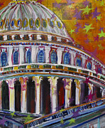 Washington D.c. Mixed Media - Who Will Grab the Seats by Mary Gallagher-Stout