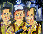 Caricature Painting Originals - Who You Gonna Call by Jacob Logan