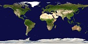 Cartography Photos - Whole Earth Map by Nasa