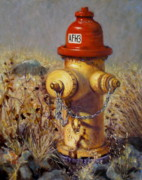 Fire Hydrant Paintings - Whoof by Donelli  DiMaria