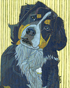 Dog Portraits Posters - Whos At The Door Molly Poster by David  Hearn