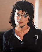 Michael Jackson Portrait Painting Originals - Whos Bad by Mike  Haslam