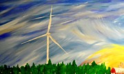 Abstract Windmill. Paintings - Whos Right by Cyryn Fyrcyd