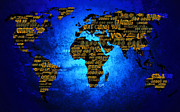 World Text Map Digital Art - Whos Watching You by Adam Vance