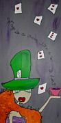 Mad Hatter Painting Originals - Why is a Raven LIke a Writing Desk by Kara Machowski
