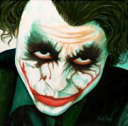 Comic Books Paintings - Why So Serious by Al  Molina