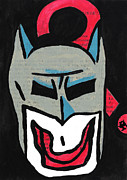 Comic Book Drawings Framed Prints - Why So Serious Batman? Framed Print by Jera Sky