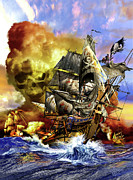 Pirate Mixed Media Posters - Whydah Poster by Kurt Miller