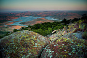 Wichita Prints - Wichita Mountains in Lawton Print by Iris Greenwell