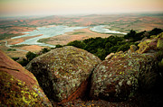 Wichita Framed Prints - Wichita Mountains in Oklahoma Framed Print by Iris Greenwell