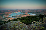 Wichita Framed Prints - Wichita Mountains Sunset Framed Print by Iris Greenwell