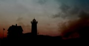 Cape Neddick Lighthouse Digital Art Posters - Wicked Dawn Poster by Lori Deiter